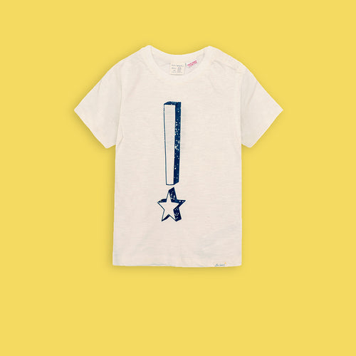 ZR Kids Star Exclamation Graphic Tee Shirt (ZA-3036)