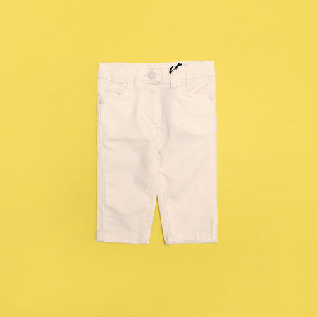 Girls Slim Leg Chino Stretch Capri Pants  (IC-3039)