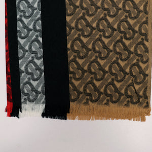 All over Jacquard weaved Monogram Stole (BU-1709)