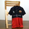 Men Color block embellished Embroidered Pique Polo shirt (US-11524)