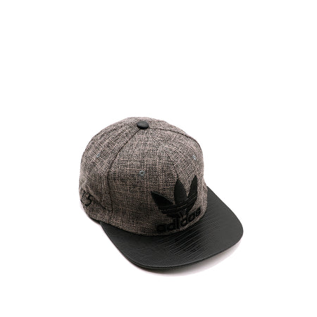 AD Textured Fabric Snap Back Cap with 3D Embroidery