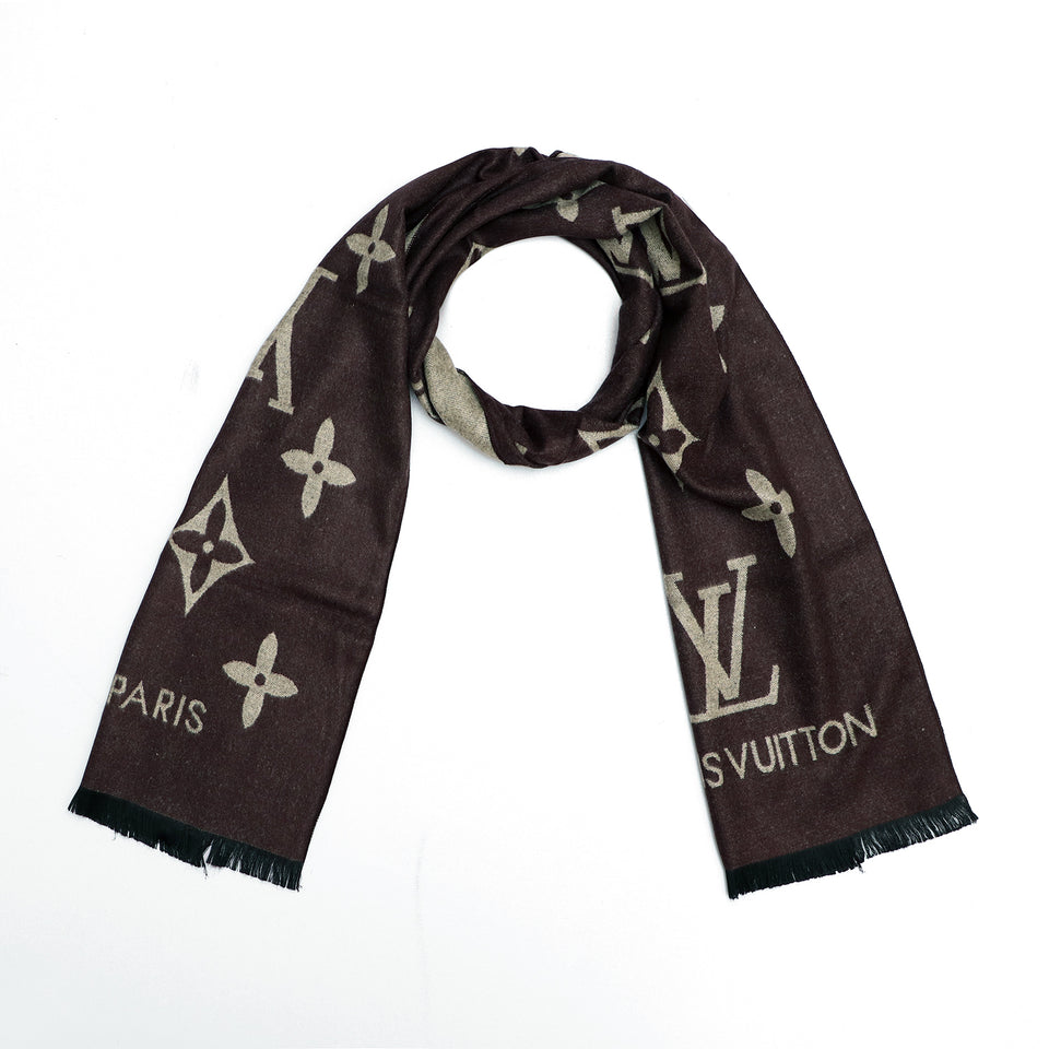 All over Jacquard weaved Monogram Stole (LV-1672)