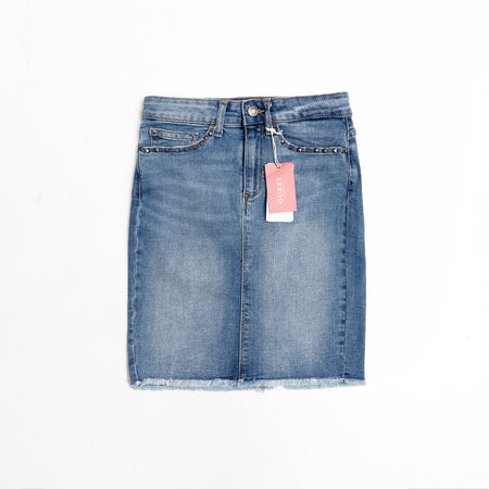 Emery Denim Stretch Skirt (GU-804)