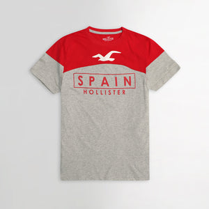 Color Block Spain Graphic Tee Shirt (HO-813)