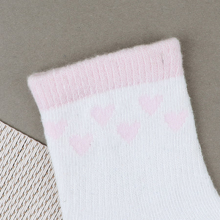 Babies Heart Shape Pattern Super Soft Socks New born to 6 Months (BS-10479)