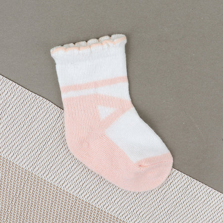 Babies Striped Pattern Super Soft Socks New born to 6 Months  (BS-10484)