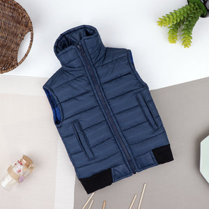 Babies to Toddler Textured Puffer Sleeve Less Jacket  (JM-10522)