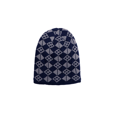 Neville Fur lined Jacquard fitted beanie Cap (CP-1845)