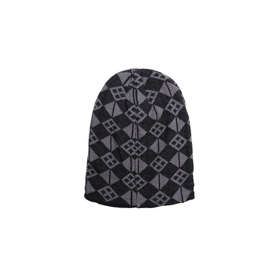Odon Fur lined Jacquard Fitted beanie Cap(CP-1846)