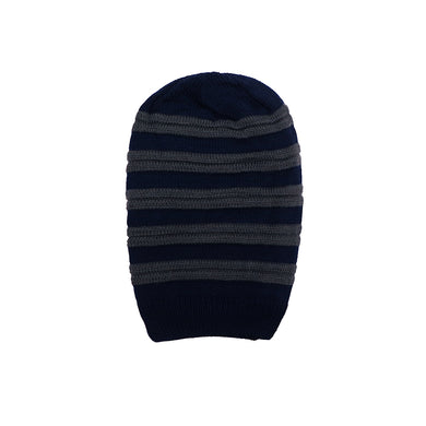 Gabriel Fur lined Striped beanie Cap (CP-1763)