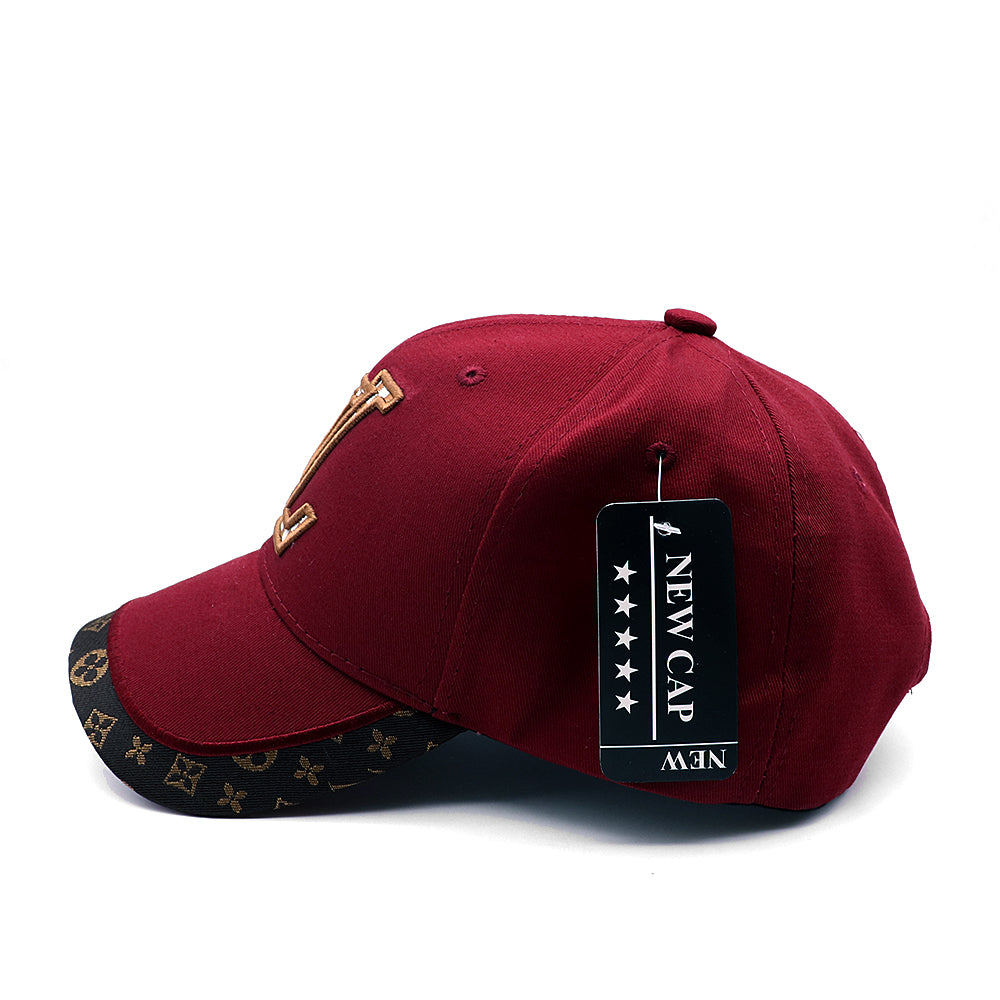 Monogram printed edge and Embroidered Baseball cap