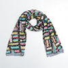 Silk Stole with Luxury print and monogram  (FE-843)