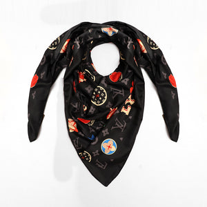 Silk Stole with Luxury print and monogram (LV-849)