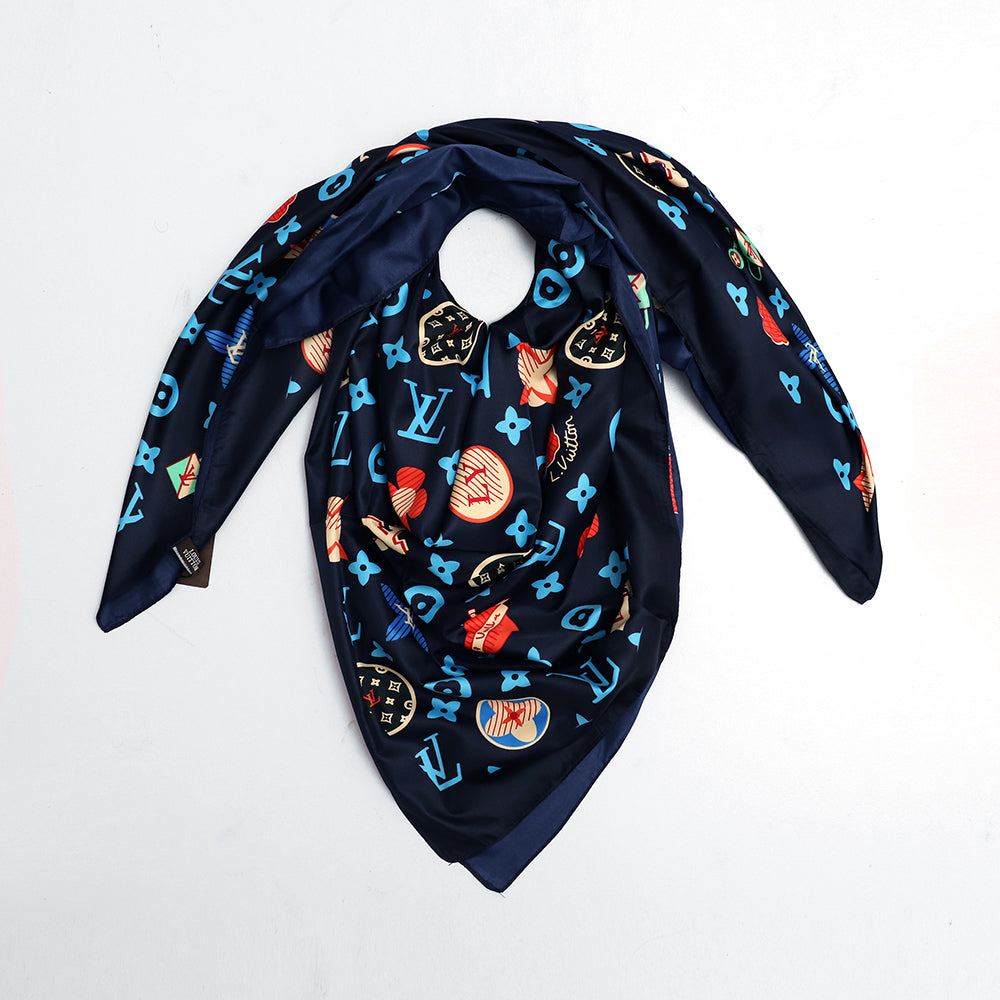 Silk Stole with Luxury print and monogram  (LV-848)