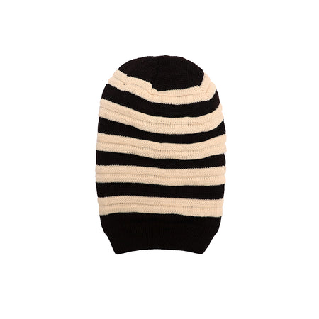 Raphael Fur lined Striped beanie Cap (CP-1766)