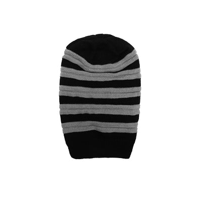 Charles Fur lined Striped  beanie Cap (CP-1776)