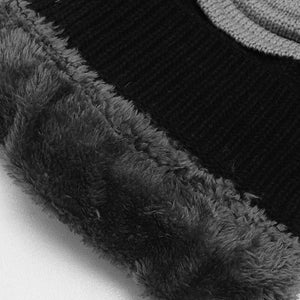 Isasmo Fur lined Textured beanie Cap (CP-1821)
