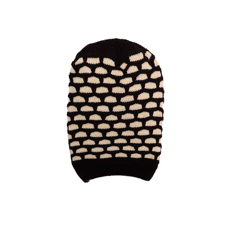 Maxime Fur lined Striped beanie Cap (CP-1778)