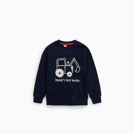 "baby Club Boys "" Digger"" Graphic Sweatshirt (BC-1744)"