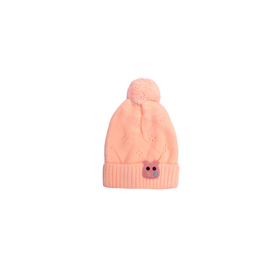 Kids hippo Peach Sueded Wool Beanie Cap (KC-1800)