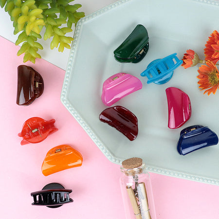 Pack of 12 Multi Color Medium Hair Claw Clip Clamp Hair Catcher  (HC-20462)