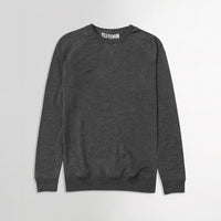 P.P Men Basic Charcoal Super Soft Crew Sweatshirt (PP-10054)