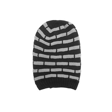 Marshall Fur lined Striped beanie Cap (CP-1815)