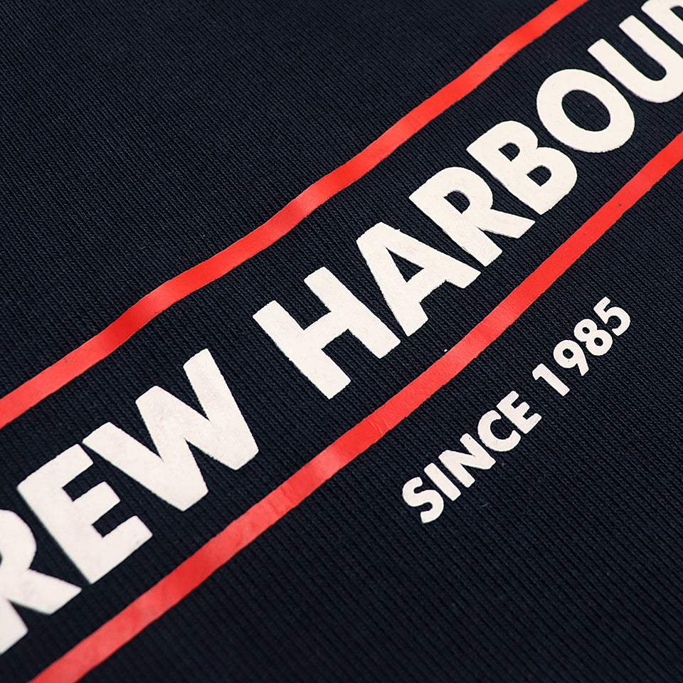 Crew Harbor Navy Print and Applique Camero Sweatshirt (CR-1849)