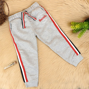 Kids Cotton Blend Side Striped Graphic Joggers (BE-10328)