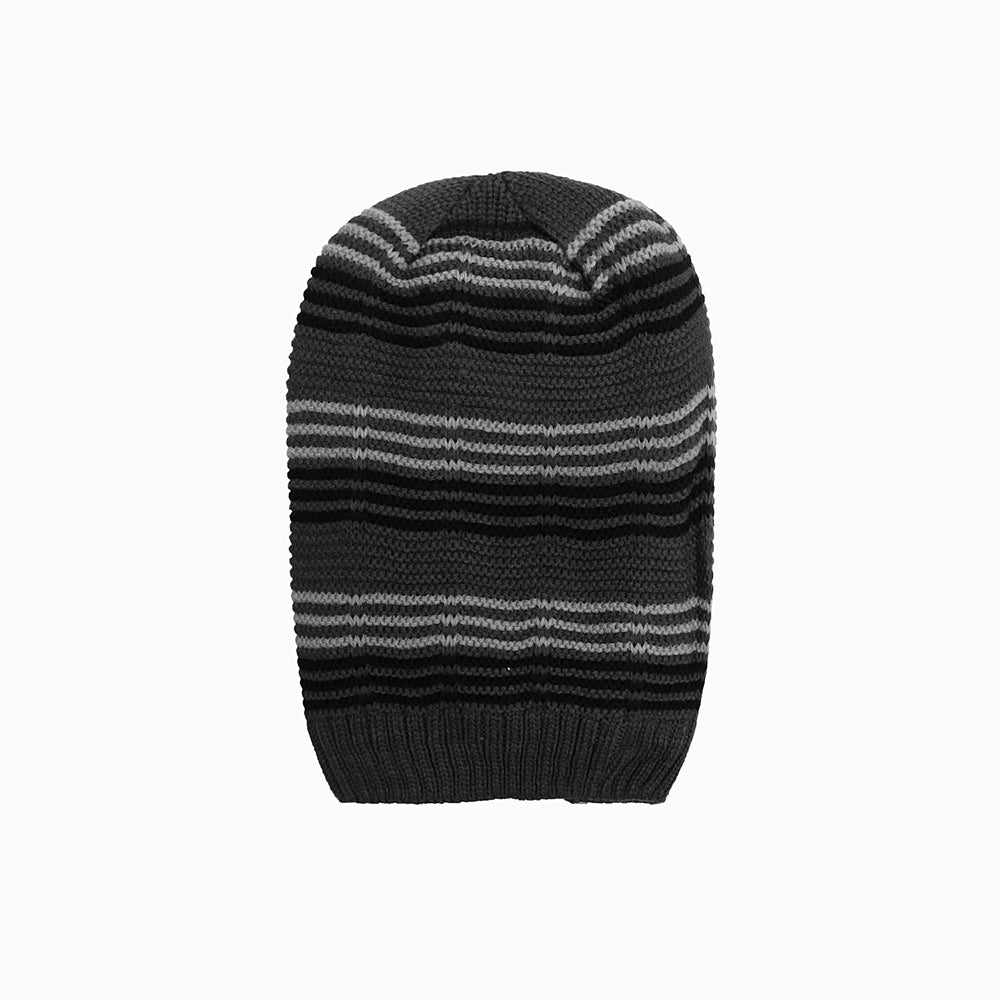 Olivier Fur lined Striped beanie Cap (CP-1823)
