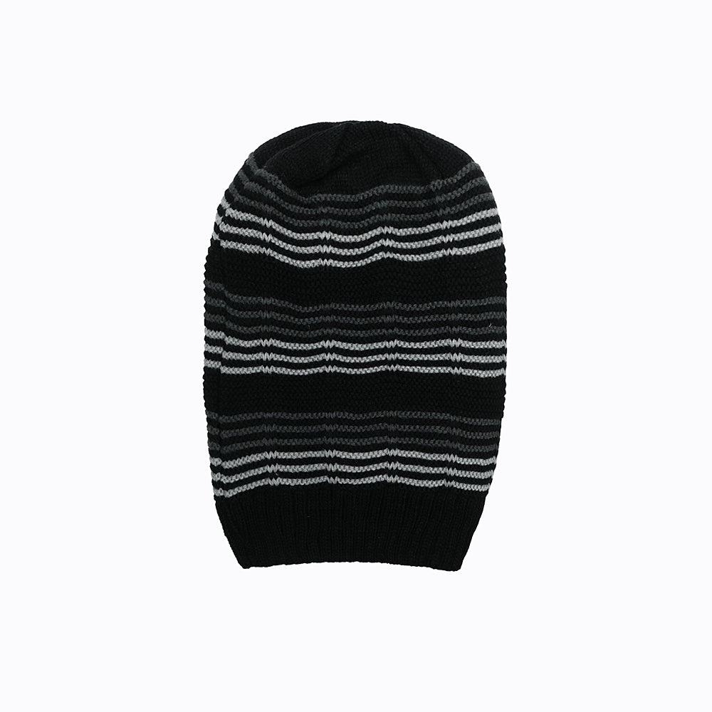 Neville Fur lined Striped beanie Cap (CP-1824)