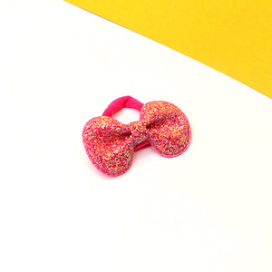 Small Sequin Decorated Bow Hair Bobble