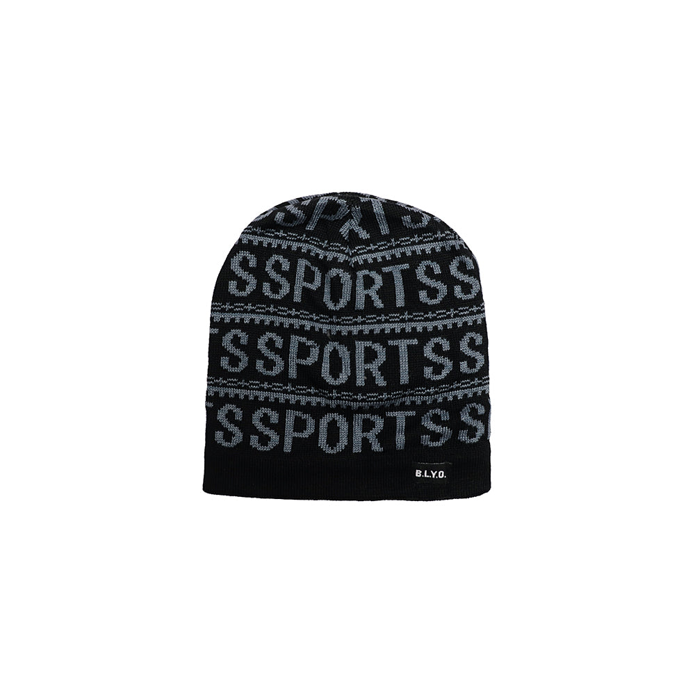 Carmelo Fur lined Jacquard fitted beanie Cap (SP-1877)