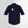 Men Crew Harbour Navy Oxford Chambray Signature Slim Fit Casual Shirt  (CR-4779)