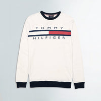 Men Cotton Heavy Jersey Logo Graphic Sweat Shirt (TO-10558)