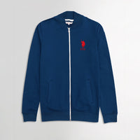 USPA Patrol Blue Contrast Zipper Funnel Neck Fleece jacket (US-1868)