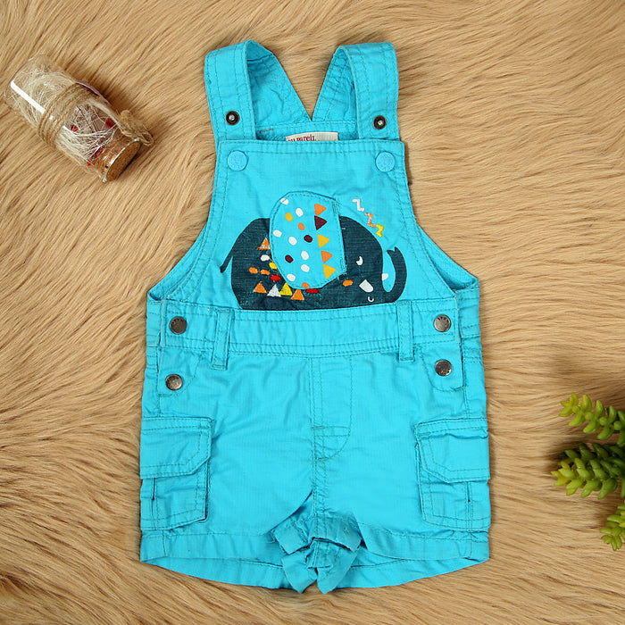 Premium Quality Blue Cotton Dungaree For babies (DU-11584)