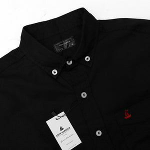 Men Crew Harbour Black Oxford Chambray Signature Casual Shirt  (CR-4943)