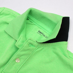 boys bright green short sleeve polo (GA-157)