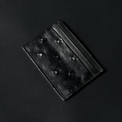 Dear Stag Genuine Textured Leather Black Card Holder (DS-4787)