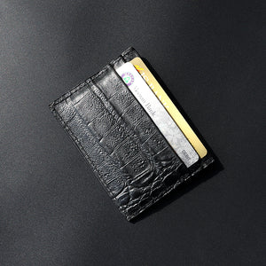 Dear Stag Genuine Textured Leather Black Card Holder (DS-4786)