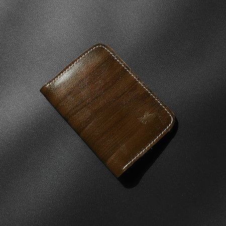Genuine Full Grain Leather Brown mini Wallet (DS-4796)