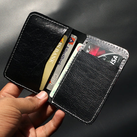 Genuine Textured Leather Black mini Wallet (DS-4785)