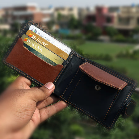 Dear Stag Genuine Full Grain Leather Two tone Wallet  (DS-4790)