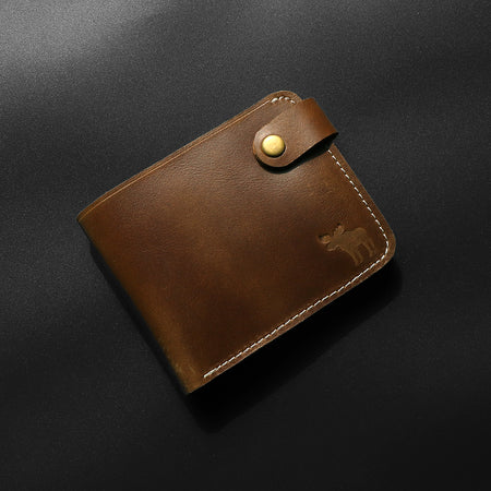 Dear Stag Genuine Pull up Leather Brown Wallet (DS-4794)