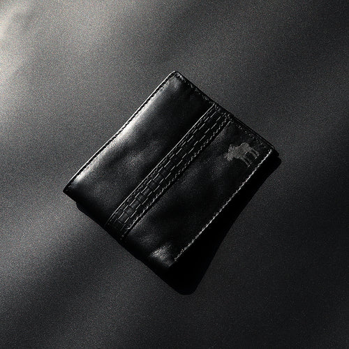 Dear Stag Genuine Full Grain Leather Textured Strap Black Wallet (DS-4788)