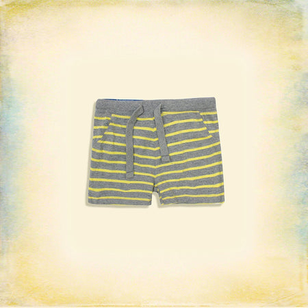 Baby Cotton Rich Dyed Yarn striped shorts (LU-2942)