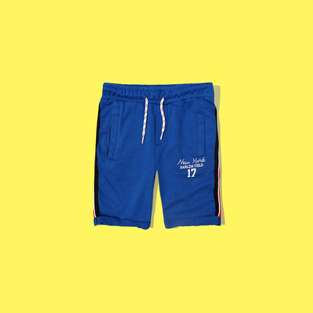 Kids T.A.L Royal New York 17 Print Terry Shorts (TP-4732)