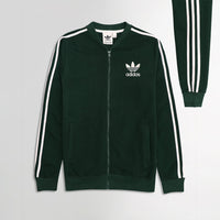 AD Green Tri Striped Retro Zipper Bomber JACKET (AD-1913)