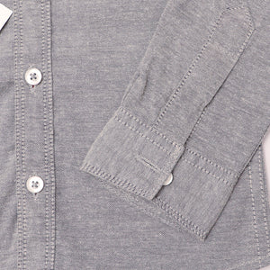 Crew Harbour Kids Grey Signature Oxford Casual Shirt  (CR-10115)